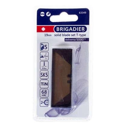 Лезвия для ножа трапециевидные Brigadier Extrema 19 мм 5 шт.