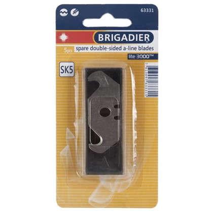 Лезвия для ножа трапециевидные Brigadier крючкообразные 5 шт.