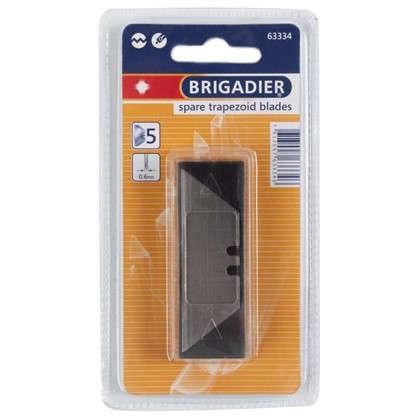 Лезвия для ножа трапециевидные Brigadier универсальные 5 шт.