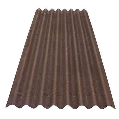 Лист Ондулин 3x760х1950 мм цвет коричневый