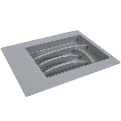 Лоток для столовых приборов 400-450 мм пластик цвет серый