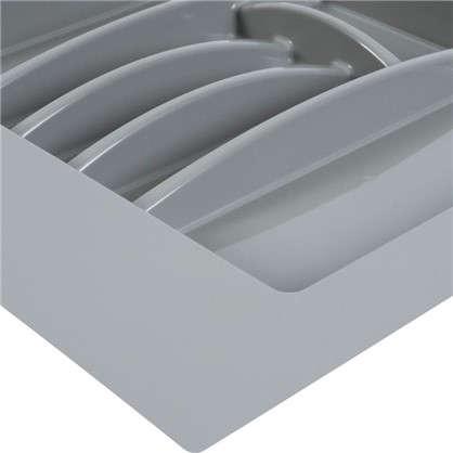 Лоток для столовых приборов 600 мм пластик цвет серый