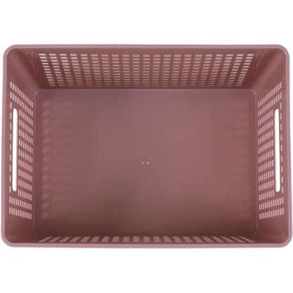 Лоток с крышкой 270х190х150 мм 6 л полипропилен цвет розовый