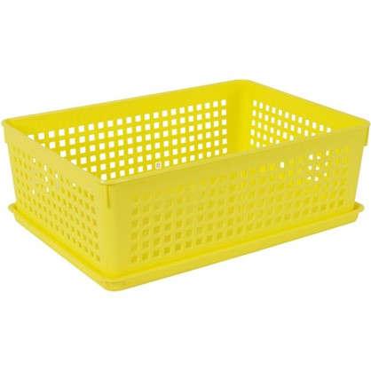 Купить Лоток с крышкой 270x190x90 мм 3.7 л цвет желтый дешевле