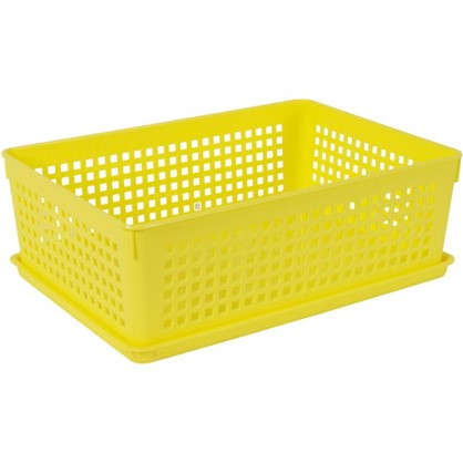 Лоток с крышкой 270x190x90 мм 3.7 л цвет желтый