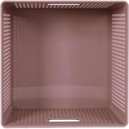 Лоток с крышкой 310х310х150 мм 12 л полипропилен цвет розовый