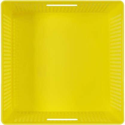 Лоток с крышкой 310x310x150 мм 12 л цвет желтый