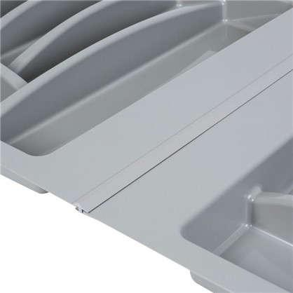 Лоток в базу 800 мм пластик 2 шт. пластик цвет серый