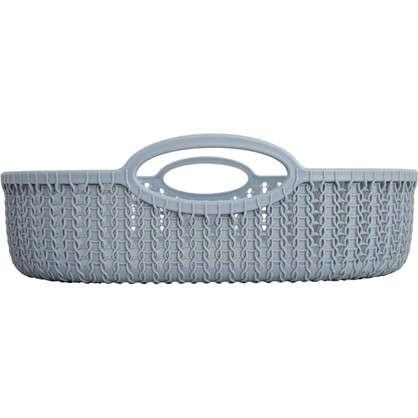 Купить Лоток Вязание 370х280 мм цвет серый дешевле