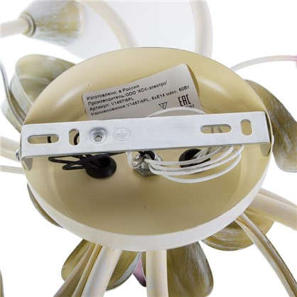 Люстра Eva 6xE14x60 Вт металл/стекло цвет белый