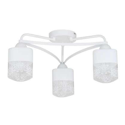 Люстра Inspire Patt 3 лампы цвет матовый белый