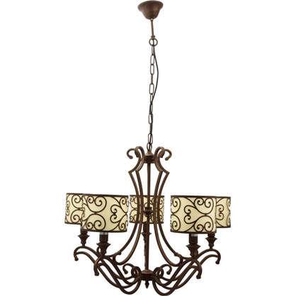 Люстра подвесная Barbara 586/5 5 ламп 10 м² цвет коричневый