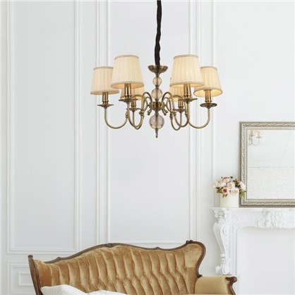 Люстра потолочная Montrem L1151-6 6 ламп 12 м² цвет медный