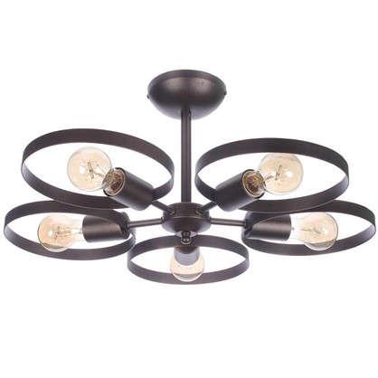 Люстра потолочная Софито 5 ламп 15 м² цвет коричневый