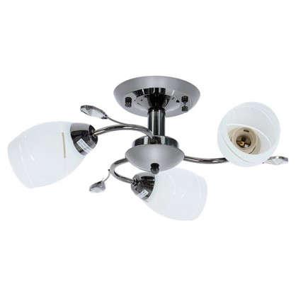 Люстра Spiral 3хЕ27х60 Вт металл/стекло цвет белый/черный