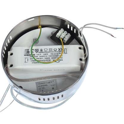 Люстра светодиодная Nicco 4033/40L 40 Вт цвет хром