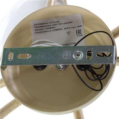 Люстра Вианна 6xE14x60 Вт металл/стекло цвет белый/прозрачный