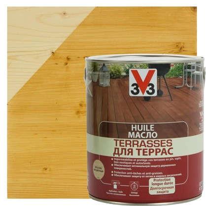 Масло для террас V33 бесцветное 2.5 л