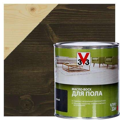 Масло-воск для пола V33 цвет черный 0.75 л