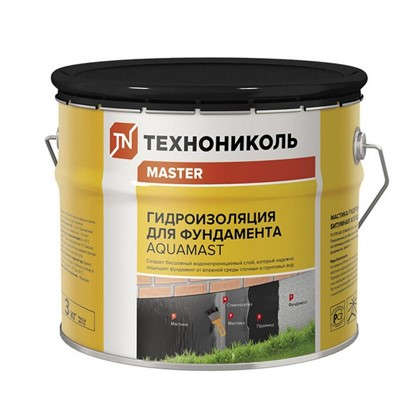 Мастика битумная AquaMast Гидроизоляция Фундамента 3 кг