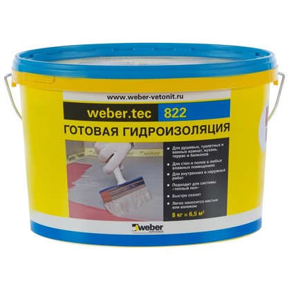 Мастика для гидроизоляции Weber Vetonit Weber.Tec 822 цвет розовый