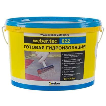 Мастика для гидроизоляции Weber Vetonit Weber.Tec 822 цвет серый