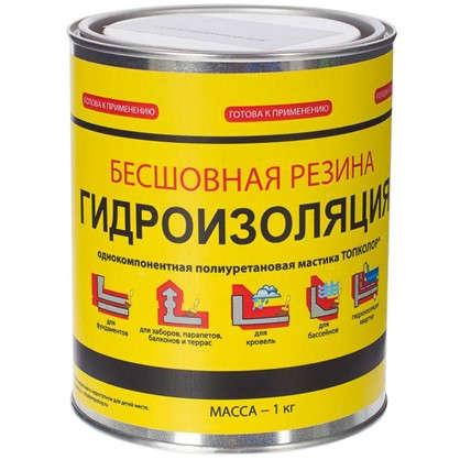 Купить Мастика гидроизоляционная Топколор 1 л цвет серый дешевле