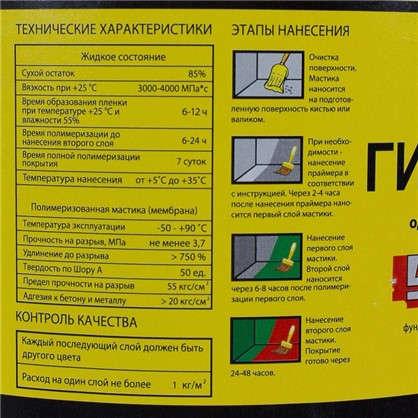 Купить Мастика гидроизоляционная Топколор 7 л цвет красный дешевле