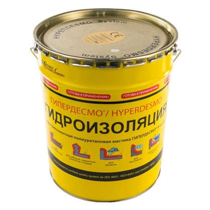 Мастика полиуретановая Alchimica Гипердесмо Классик 25 кг цвет белый