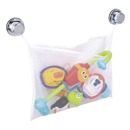 Мешок-сетка подвесной для игрушек Tatkraft Vacuum Screw полиэстер цвет белый