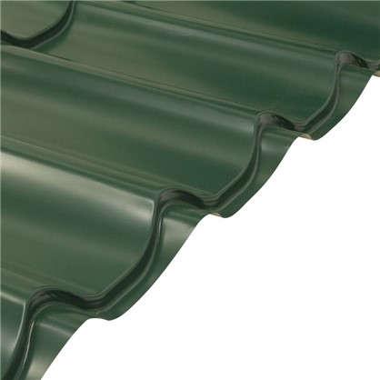 Купить Металлочерепица 116х047м с полиэстеровым покрытием 04 мм цвет зеленый дешевле