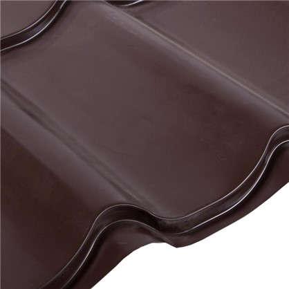Купить Металлочерепица 116х117м с полиэстеровым покрытием 04 мм цвет коричневый дешевле