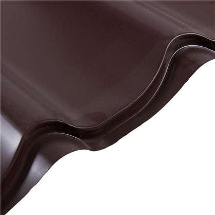 Металлочерепица 116х222м с полиэстеровым покрытием 04 мм цвет коричневый