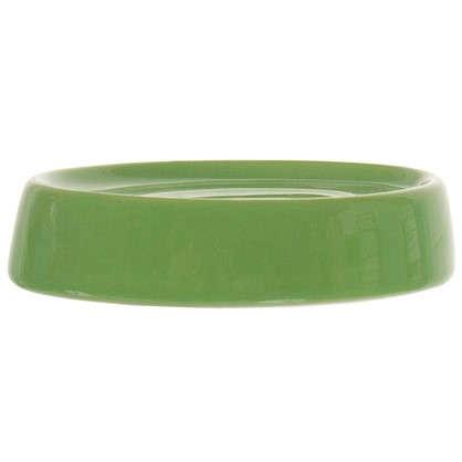 Мыльница настольная Veta керамика цвет зеленый