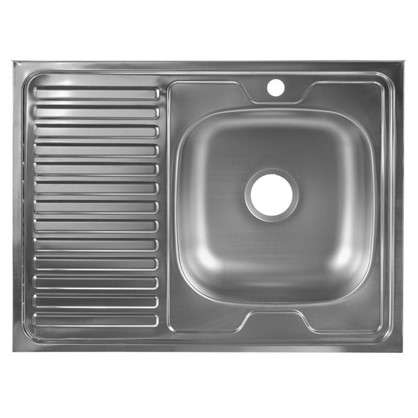 Мойка накладная правая 60x80 см нержавеющая сталь глубина 16 см