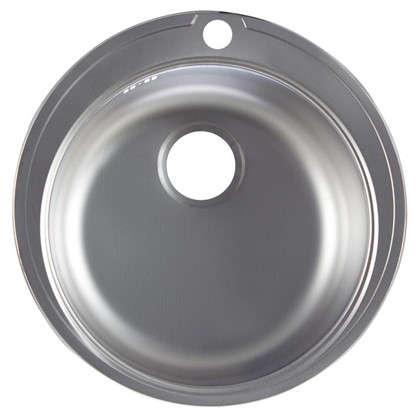 Мойка врезная Eurodomo 51 см цвет хром нержавеющая сталь