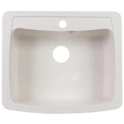Купить Мойка врезная Granfest GF-S 60.5х51 см глубина 20 см цвет белый дешевле