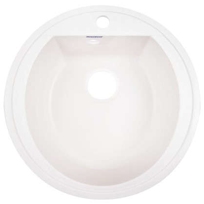 Мойка врезная Granfest Rondo GF-R 50 см цвет белый мрамор
