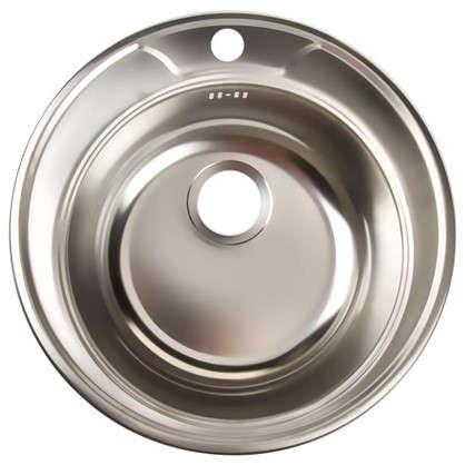 Купить Мойка врезная Omega 49 см цвет хром нержавеющая сталь дешевле