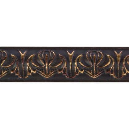 Купить Молдинг настенный 101В-966 интерьерный 200х3.3 см цвет коричневый дешевле