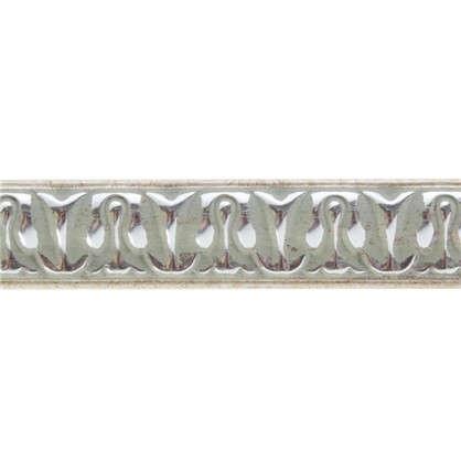 Купить Молдинг настенный 103С-59 интерьерный 200х2 см цвет серебристый дешевле