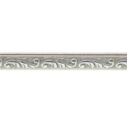 Молдинг настенный 130-59 интерьерный 200х1.5 см цвет серебристый