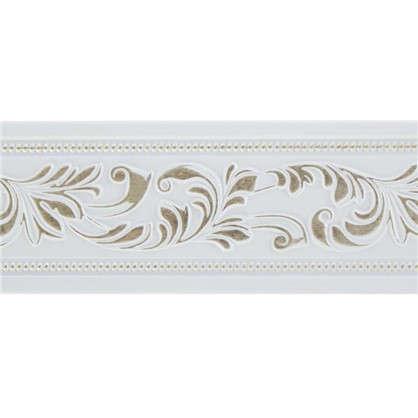 Купить Молдинг настенный 156-60 интерьерный 200х5 см цвет белый дешевле