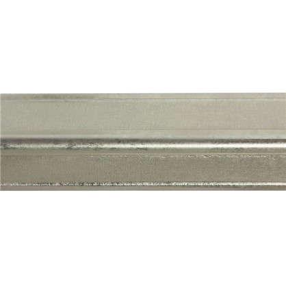 Купить Молдинг настенный Decomaster 116S-937 22х22х2000 мм цвет серебристый дешевле