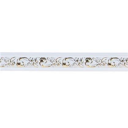 Купить Молдинг настенный интерьерный 2 м 30х14 см цвет бело-золотой дешевле
