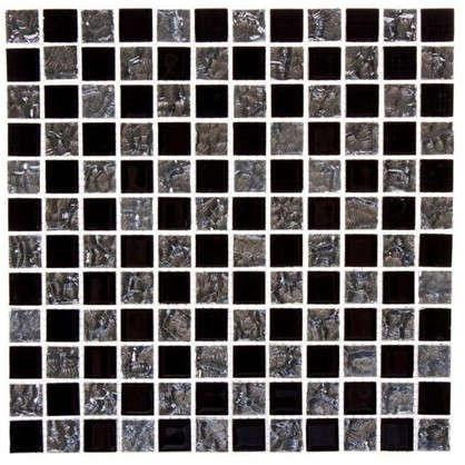 Мозаика 30х30 см стекло цвет серебристый