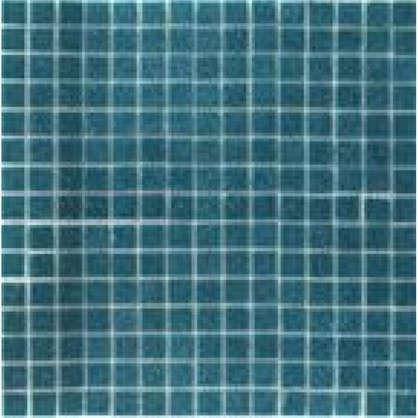 Мозаика 32.7х32.7 см 4 мм стекломасса цвет сине-зелёный