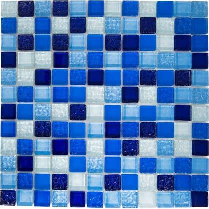 Мозаика Artens 30х30 см стекло цвет голубой