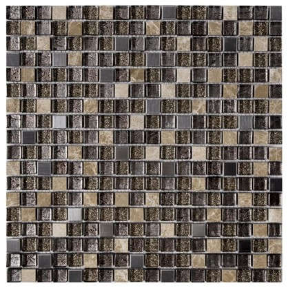 Мозаика Artens 30х30 см стекло цвет коричневый