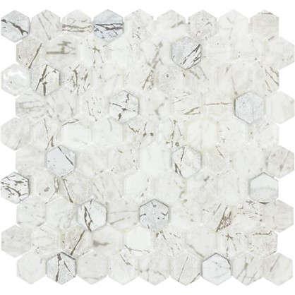 Купить Мозаика Artens Graphik 30х30 см стекло цвет белый дешевле